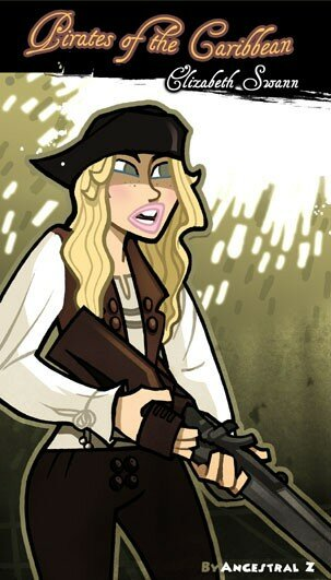 Elizabeth Swann Pirates des Caraïbes 2 le secret du coffre maudit pirate of caribbean