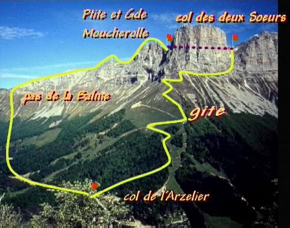 Les Moucherolles 2284 m du col de l'Arzelier - Vercors