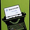 carte de fête des pères avec machine à écrire rétro