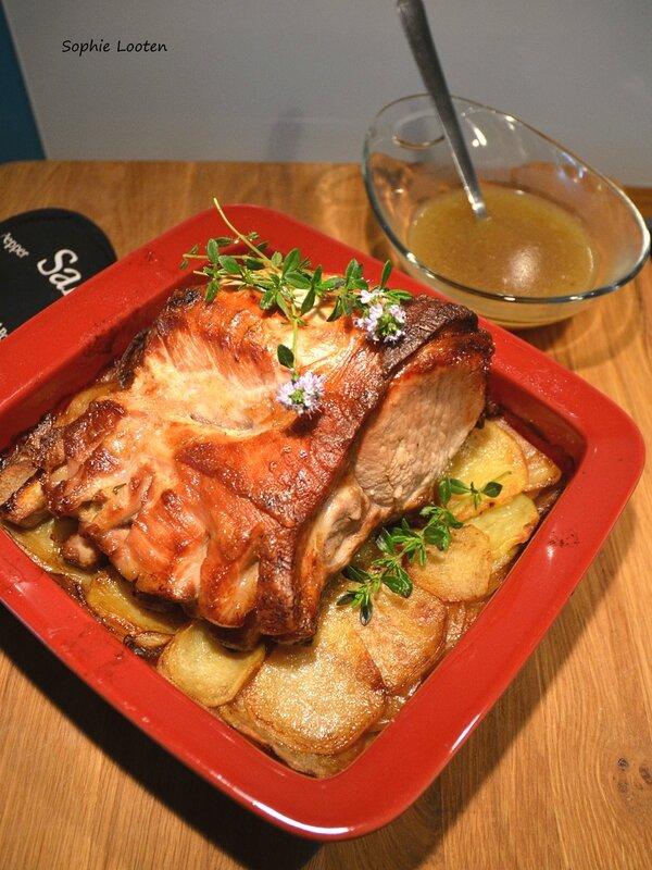Carré de porc roti boulangère2
