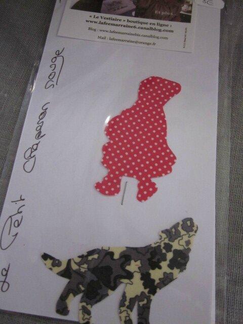 Appliqué thermocollant Le Petite Chanperon Rouge et le Loup (2)