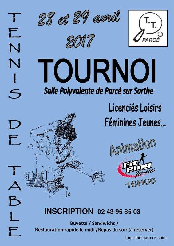 Affiche Tournoi TTP 2017 Bleu