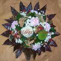 Bouquet rond avec Chou et Aralia