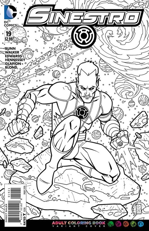 sinestro 19 adult coloring variant