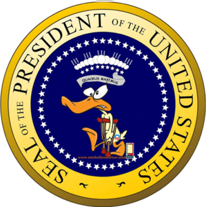 seal of the lame-duck president of the United States