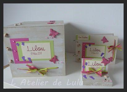 decoration artisanale pour bapteme papillons coccinelles