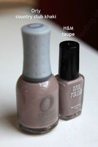 vernis HetM taupe Orly country club kaki swatch copie