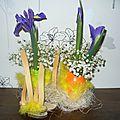 Composition florale pour paques