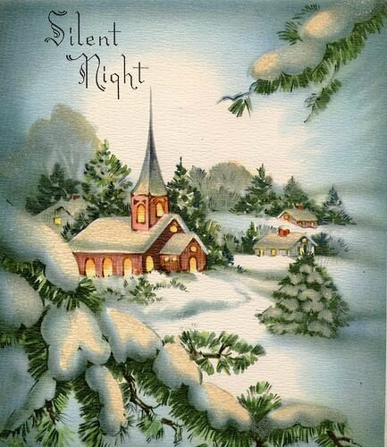 Silent Night vintage card