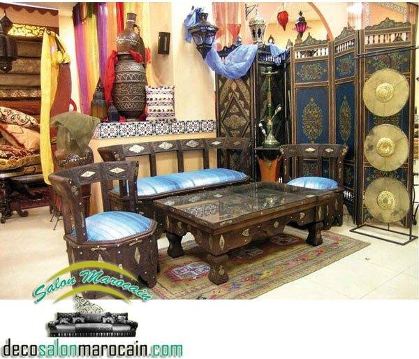salon marocain rifi berbere salon marocain moderne. Black Bedroom Furniture Sets. Home Design Ideas