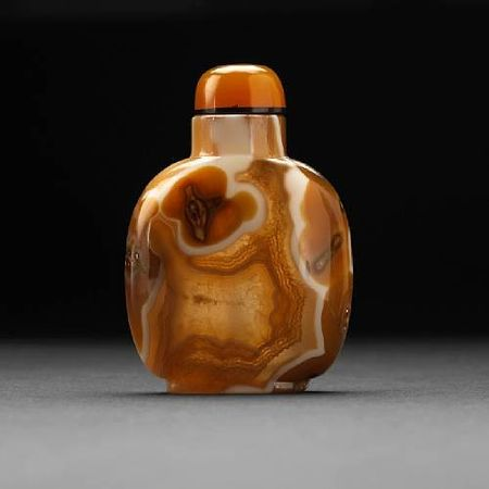A_banded_agate_snuff_bottle