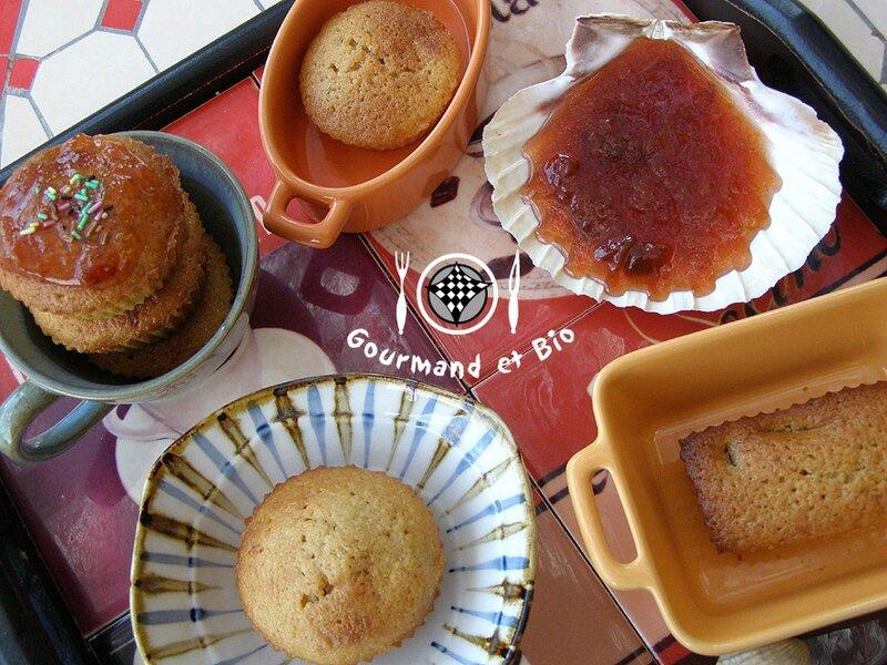 confiture et muffins aux prunes