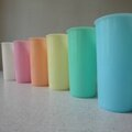 Lot de six gobelets tupperware pastels - vendus