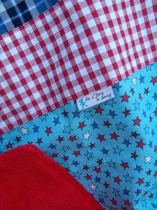 couverture étoiles rouge et bleu (5)