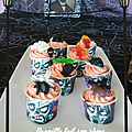 Sweet table d'halloween - assortiment de gourmandises.