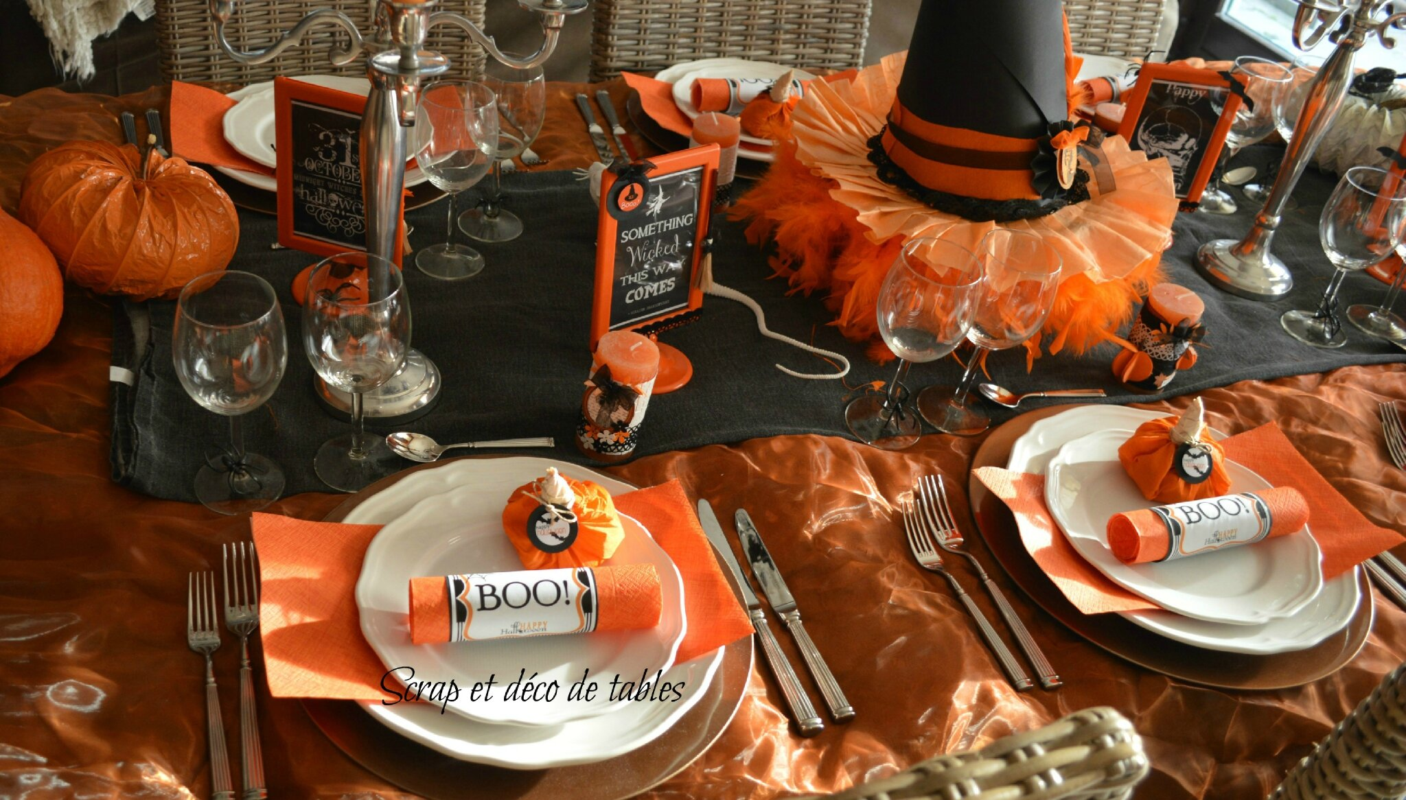 Deco de tables halloween 2013 scrap et d co de tables for Decoration de table halloween