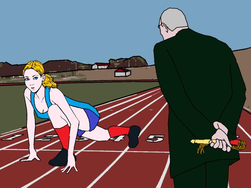 Départ course avec surveillant