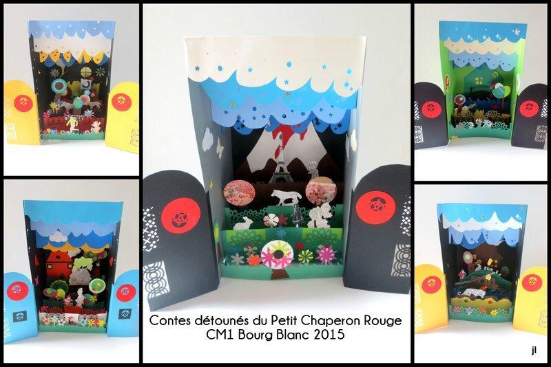 Projet Contes en dioramas CE2 CM1 CM2 Bourg Blanc 20156