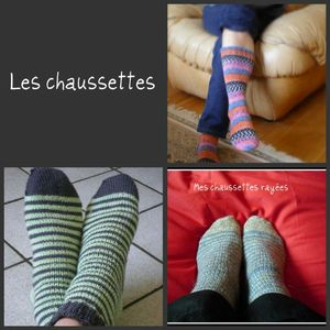 collage chaussettes