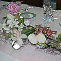 décoration à piquer fleur baptême poule