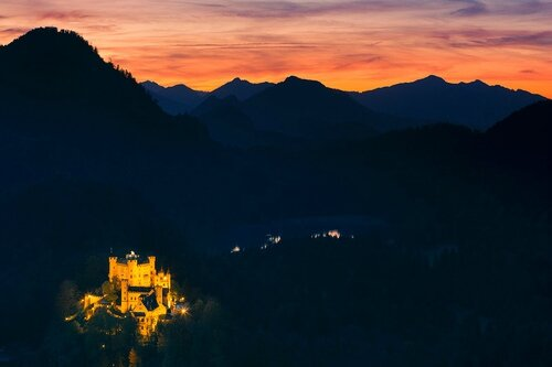 chateau allemagne pollution luminseuse