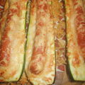 Courgettes façon hot-dog