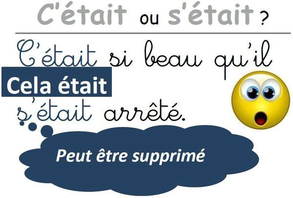 c'étaits'était