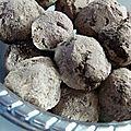 Truffes chocolat et crème de marrons