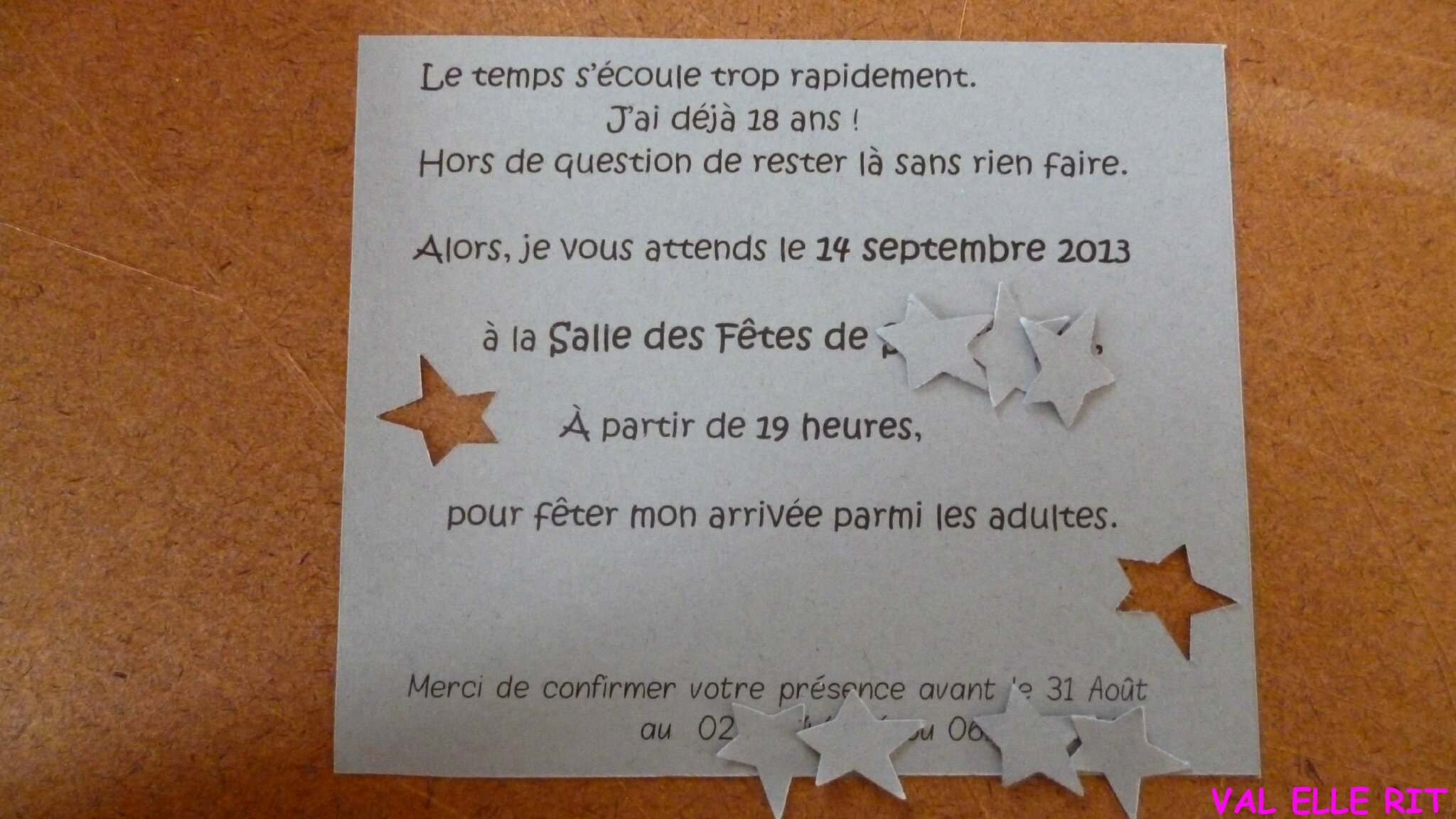 texte pour invitation surprise anniversaire 18 ans. Black Bedroom Furniture Sets. Home Design Ideas