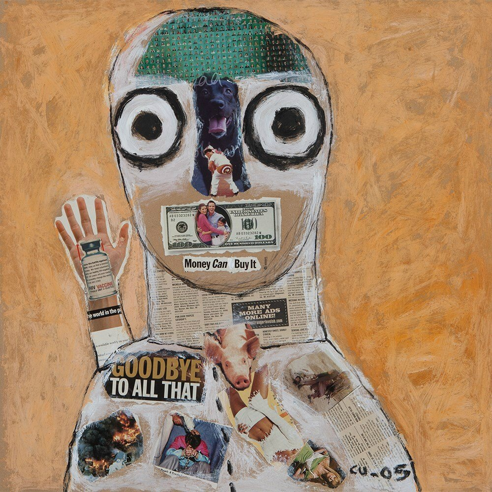 Nguyen Cong Cu (born 1969), Collage, 'Money can buy it!', Vietnam, 2005. Photo courtesy Auctionata