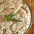 Je teste. Recette  tartiner n1 : RILLETTES JAMBON BLANC, FROMAGE FRAIS, ESTRAGON
