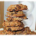 Cookies aux noix , vergeoise et sarrasin
