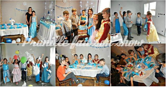 collage fête frozen birthday party prunillefee 2