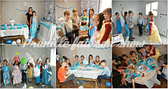 collage fête frozen birthday party prunillefee 2