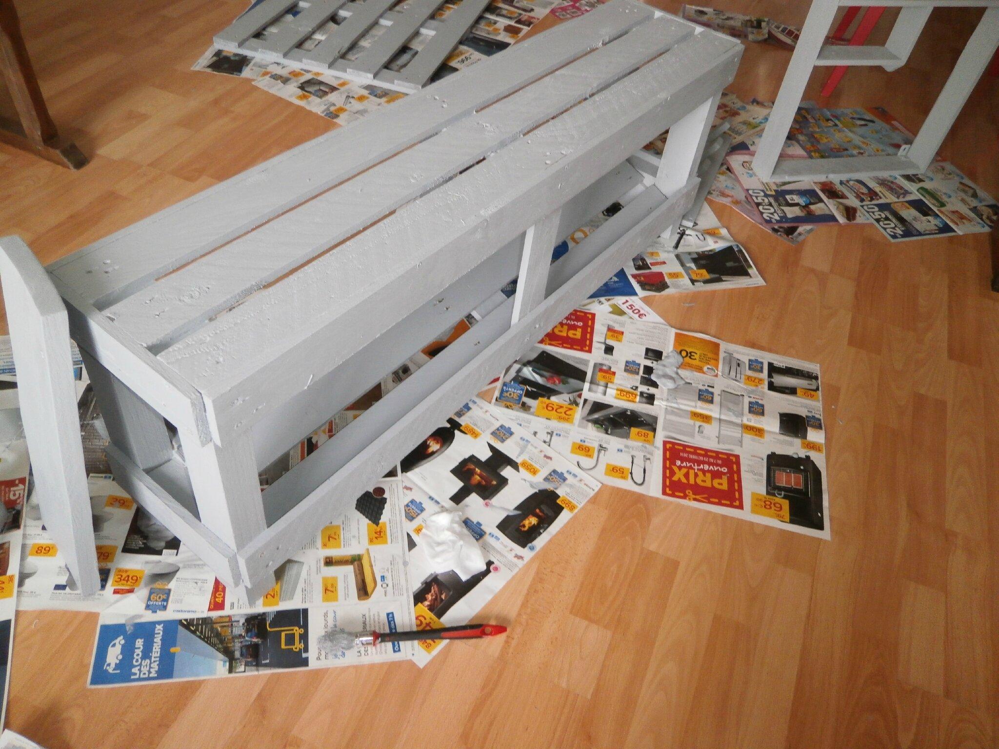 Banc en bois de palette c comme creation for Banc en bois de palette