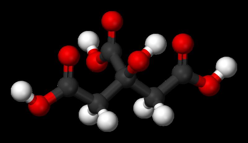 Citric-acid-3D-balls