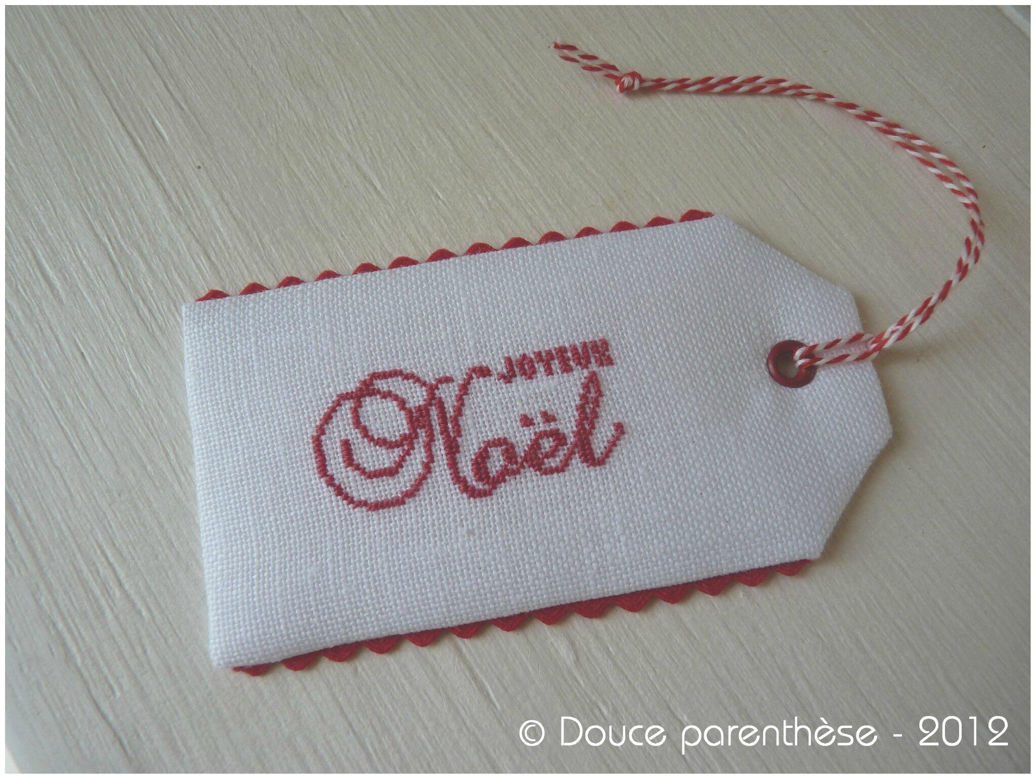 Etiquette NOEL 2012