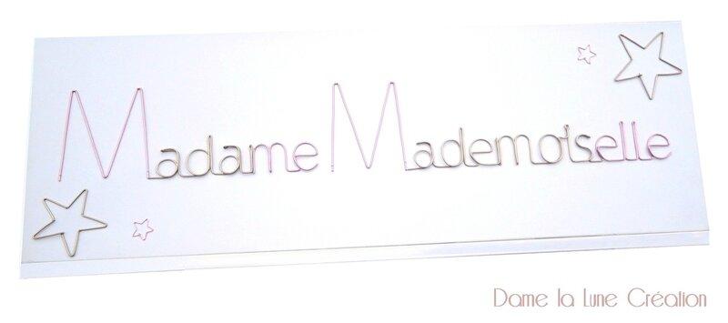 Madame mademoiselle_dame la lune création_ fil de fer_logo