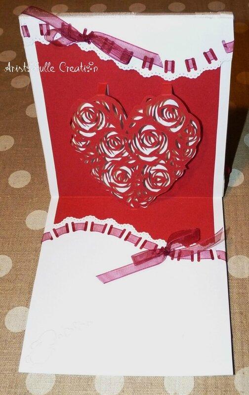 Carte shaker box St Valentin - intérieur