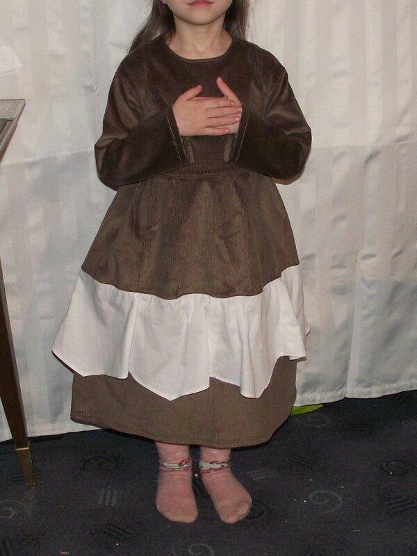 Robe Rachel Farbenmix velours marron 3