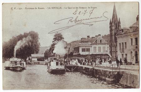 76 - LA BOUILLE - Le quai et les ateaux de Rouen