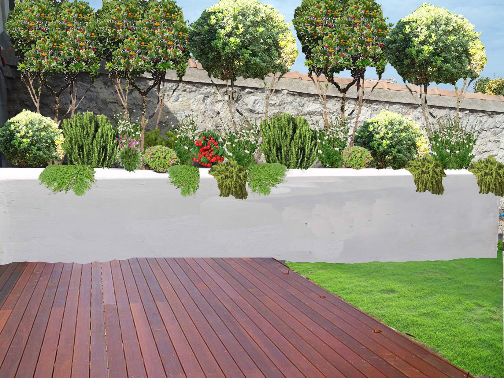 Jardin bord de mer marseille 13 maison contemporaine for Plantation de jardin