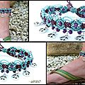 REF Pi 0011 bracelet turquoise prune