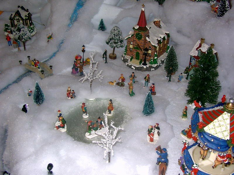La patinoire photo de village de no l 2003 noel miniature - Village de noel miniature ...