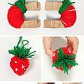 pompom fraise