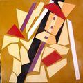 Atelier, photos de céramiques et tableaux Louise 083
