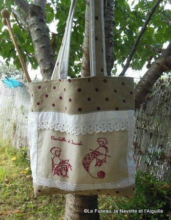 1-sac dentelle tricot 13
