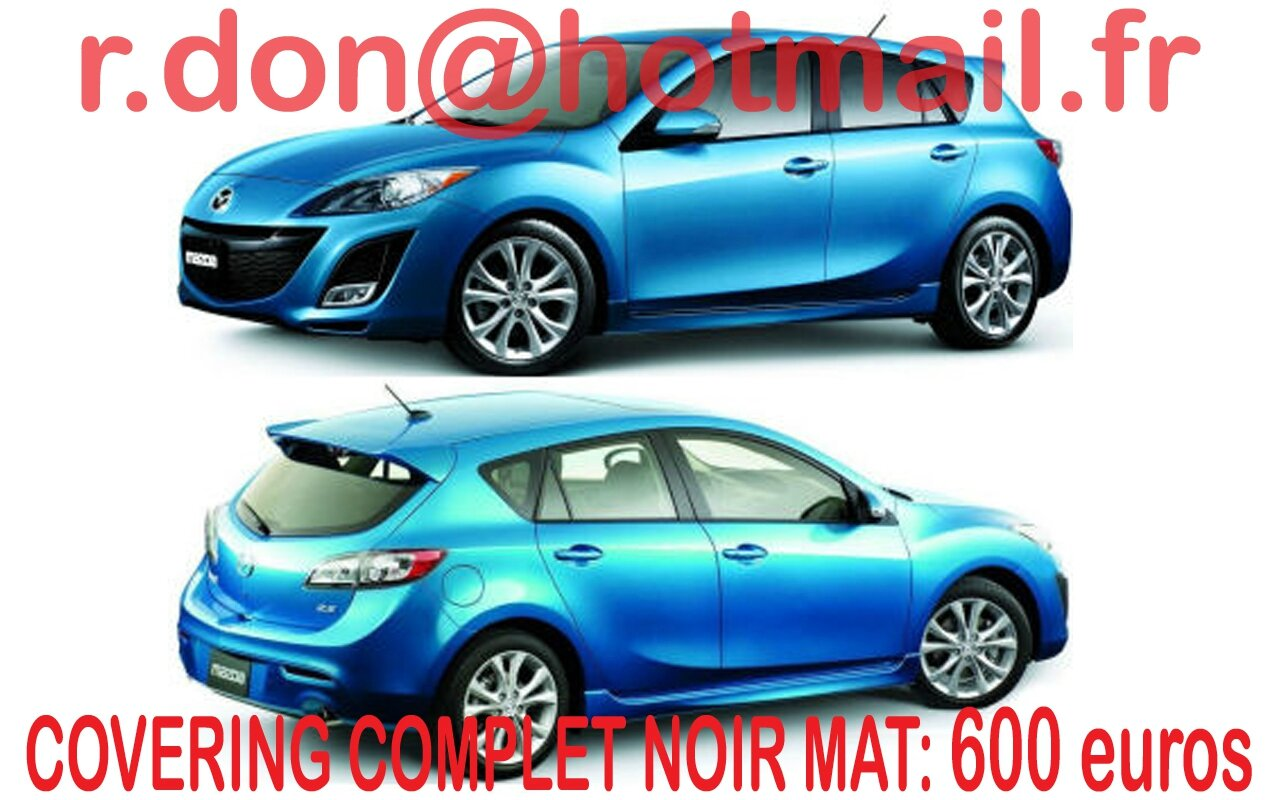 Covering mazda 3 mazda 3 noir mat for Garage auto beauvais