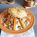 Couscous aux fêves et poulet fermier