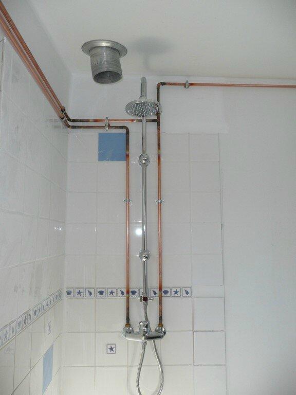 Branchement colonne de douche - Colonne douche angle ...